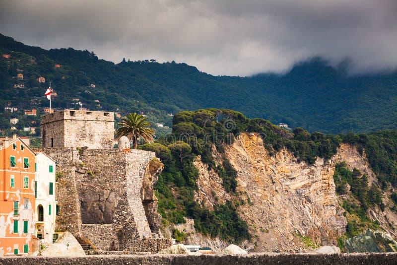 Fortress near Camogli, Italy royalty free stock image