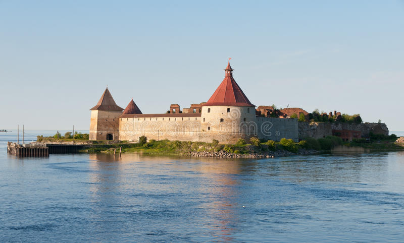 Fortress Oreshek Shlisselburg stock photos