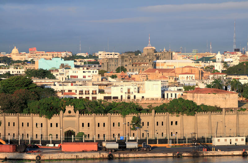 Fortress Osama and colonial quarter. Santo Domingo, Dominicana. Santo Domingo is the capital and largest city in the Dominican Republic and the largest city in royalty free stock photos