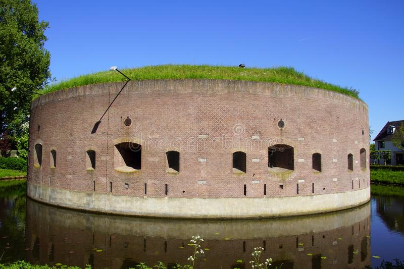 Fortress at the Ossenmarkt in Weesp, the Defence Line of Amsterdam stock images