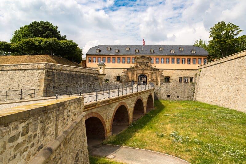 Fortress Petersberg in Erfurt stock images