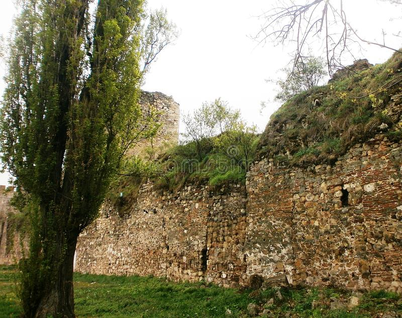 Fortress Smederevo. Smederevo fortress on the edge of the river Jezava and the Danube from the 15th century stock photo