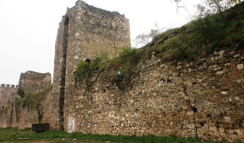 Fortress Smederevo. Smederevo fortress on the edge of the river Jezava and the Danube from the 15th century royalty free stock photos