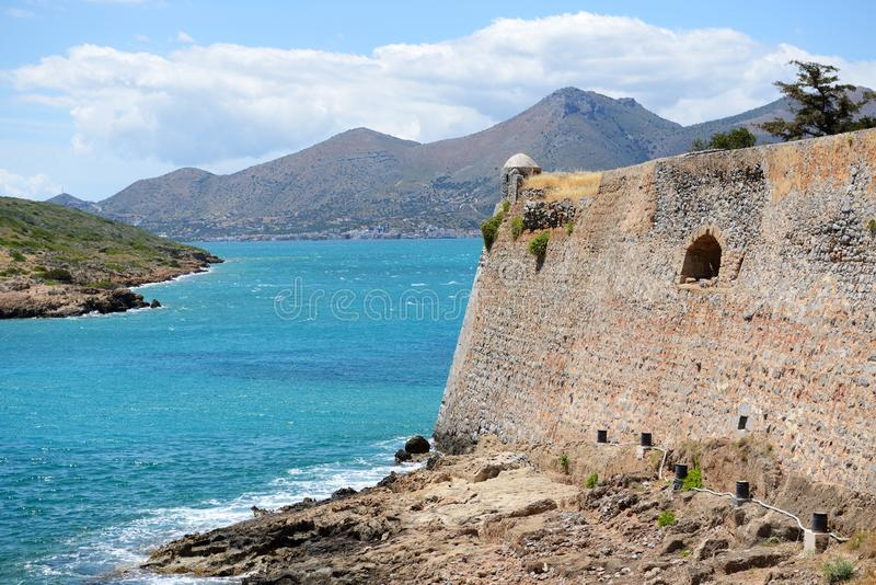 The fortress on Spinalonga Island stock photos