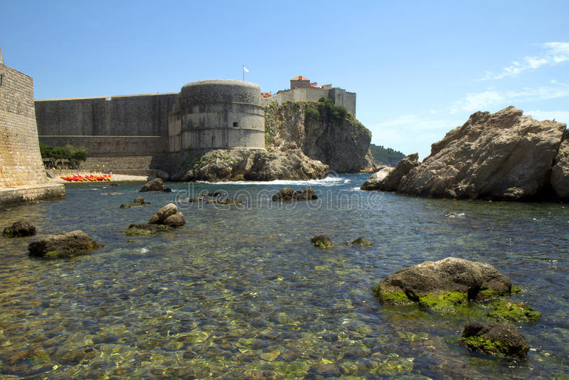 The Fortress Of St. Ivan. Dubrovnik. Croatia. stock photo