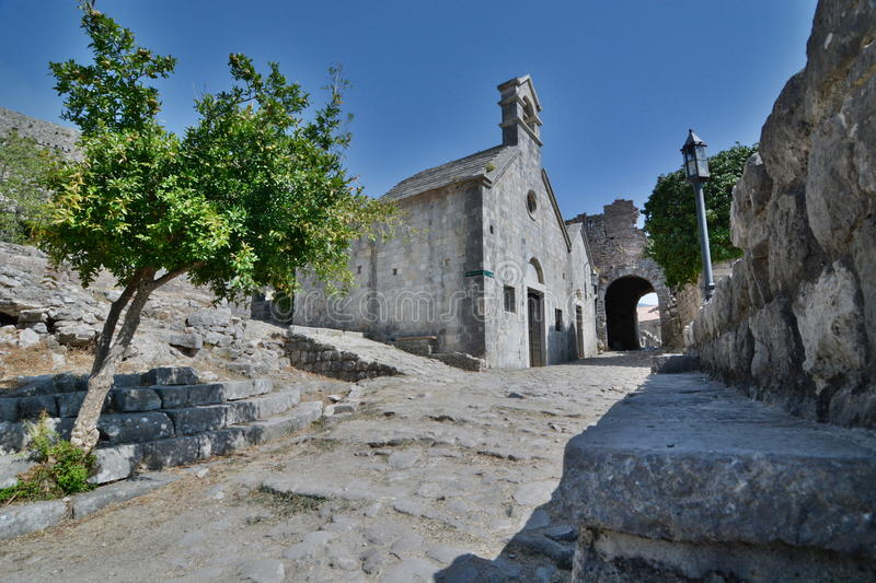The fortress. Stari Bar. Montenegro. Stari Bar, meaning Old Bar, is a small town in Montenegro royalty free stock photography