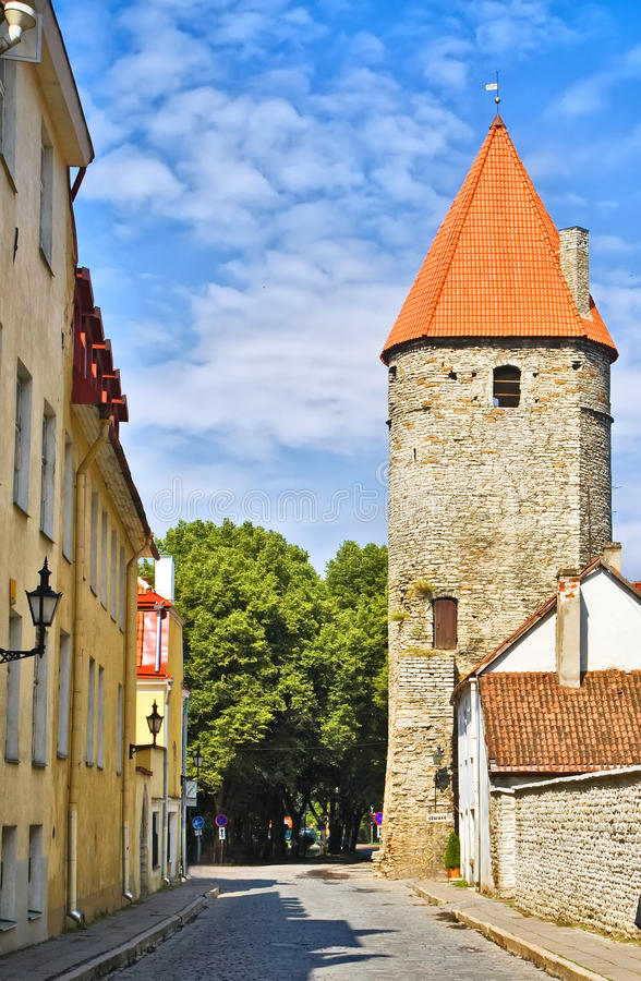 Fortress in Tallinn Old Town royalty free stock image