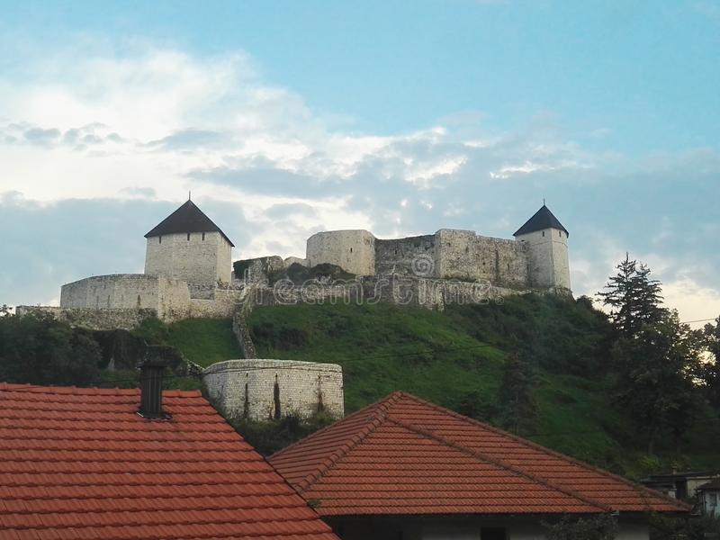 Fortress of Tesanj Bosnia and Herzegovina. Historical building . Bosnian culture stock image
