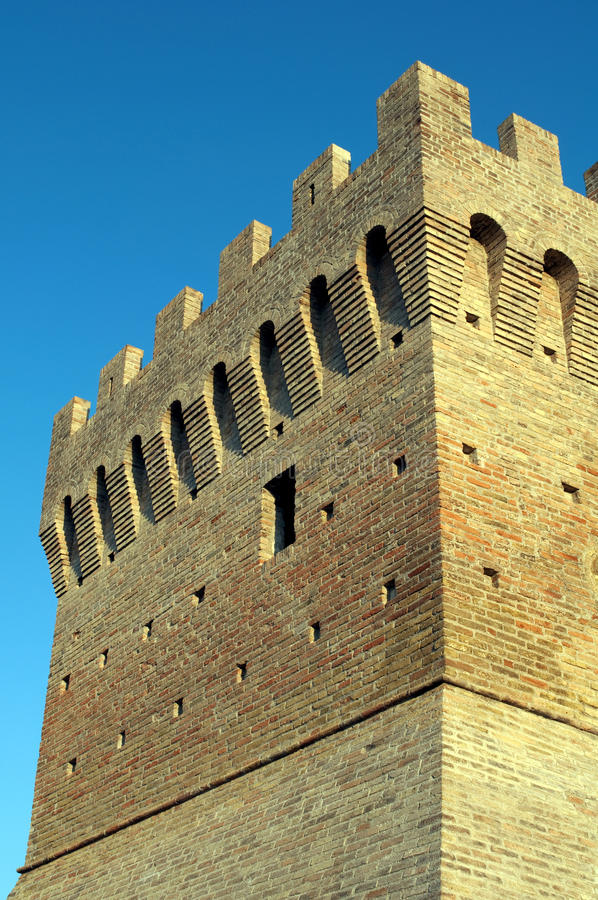 Fortress tower stock photography