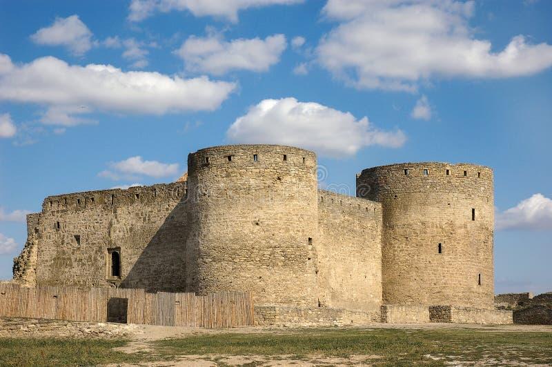 Fortress towers of the medieval ackerman fortress. Belgorod Dnestrovsky, Odessa region, Ukraine. Unesco heritage stock image