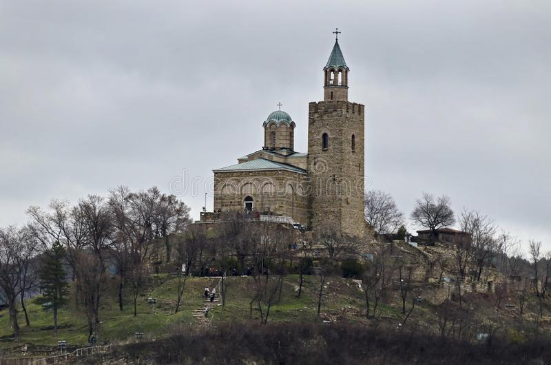 The fortress of Tsarevets is a medieval stronghold located on a hill with the same name in Veliko Tarnovo, the old capital royalty free stock photos
