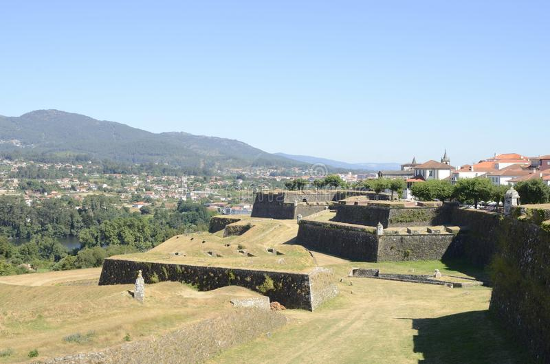 The fortress of Valenca royalty free stock photos