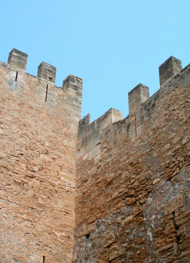 Download Fortress Wall stock photo. Image of unit, cloud, pinnacle - 191242