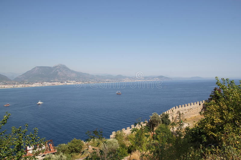 Download Fortress wall in Alanya stock photo. Image of tower, stone - 26101222