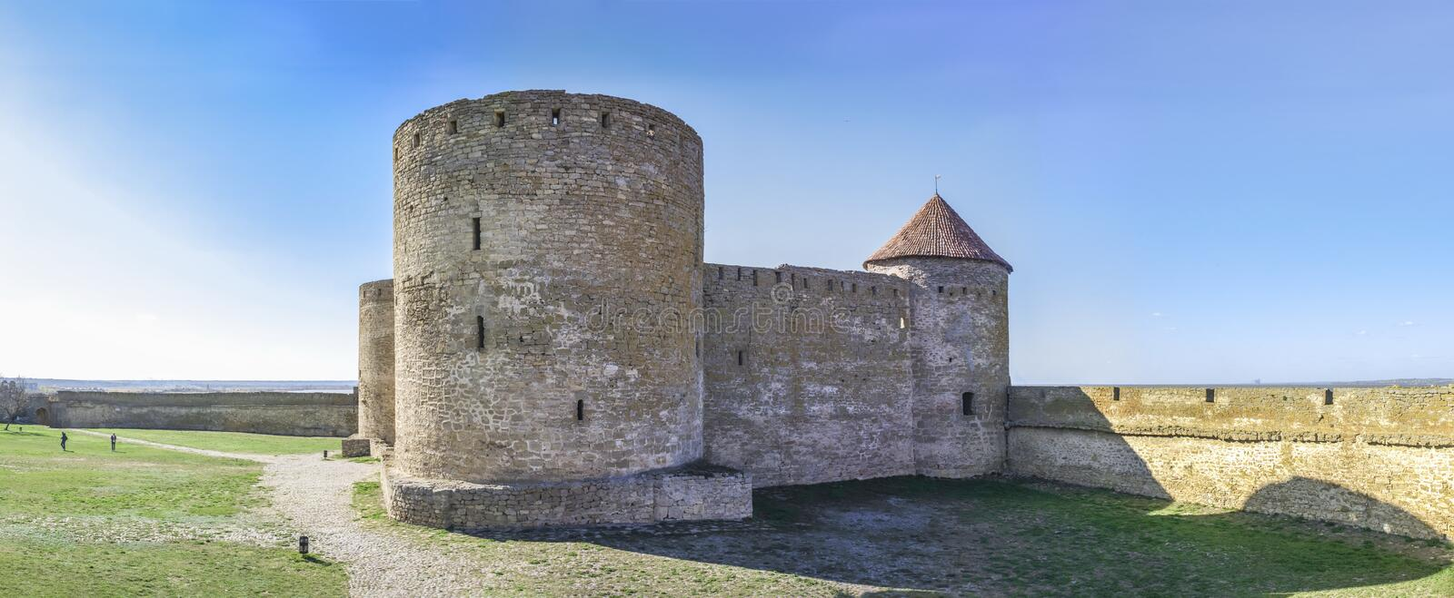 Fortress Walls of the Akkerman Citadel in Ukraine royalty free stock photos