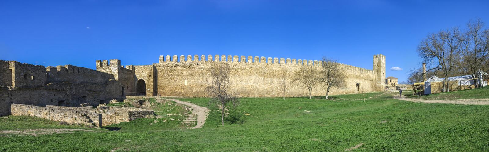 Fortress Walls of the Akkerman Citadel in Ukraine royalty free stock photography