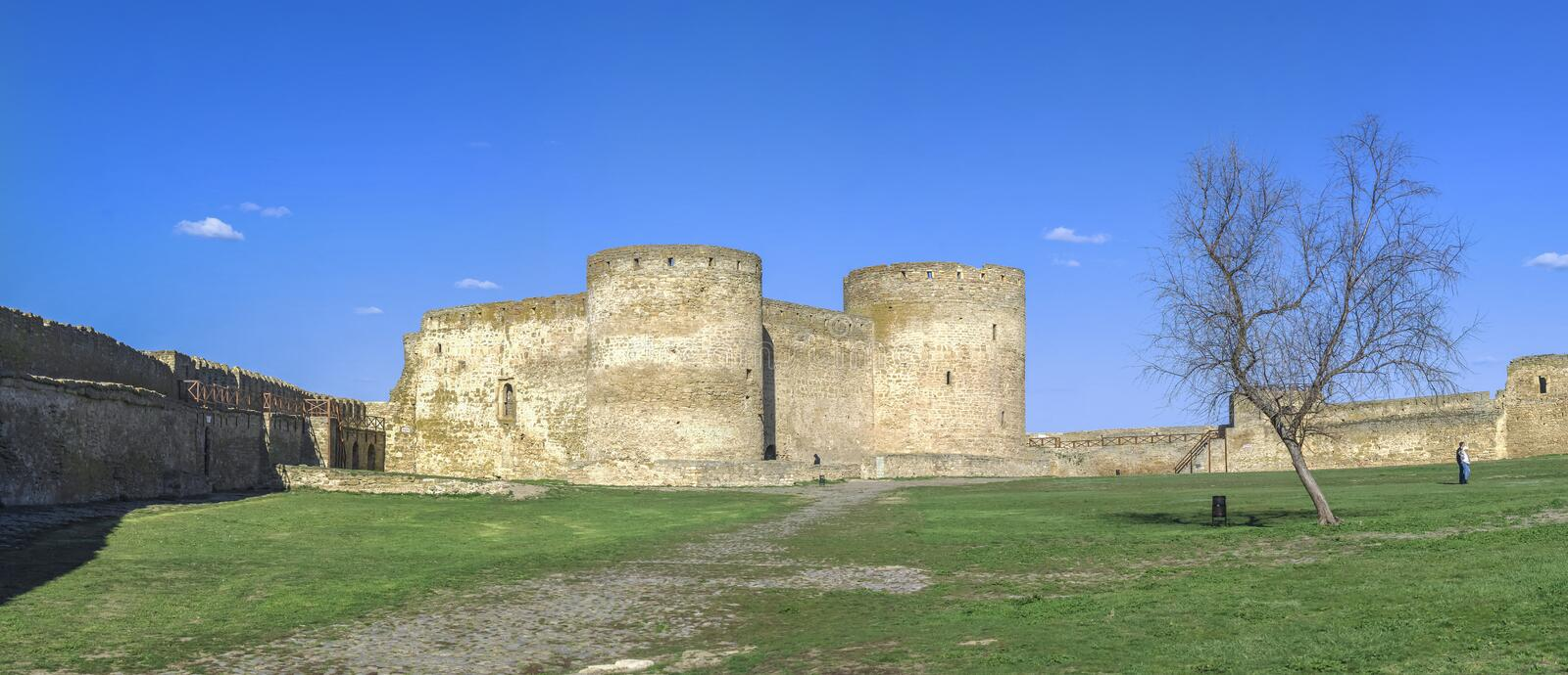 Fortress Walls of the Akkerman Citadel in Ukraine royalty free stock images