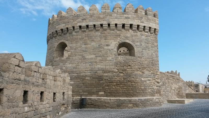 Fortress walls around of the old city stock photo
