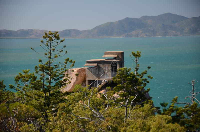 The forts Magnetic island, Australia. The forts, WW2 defence Magnetic island , Queensland, Australia stock images