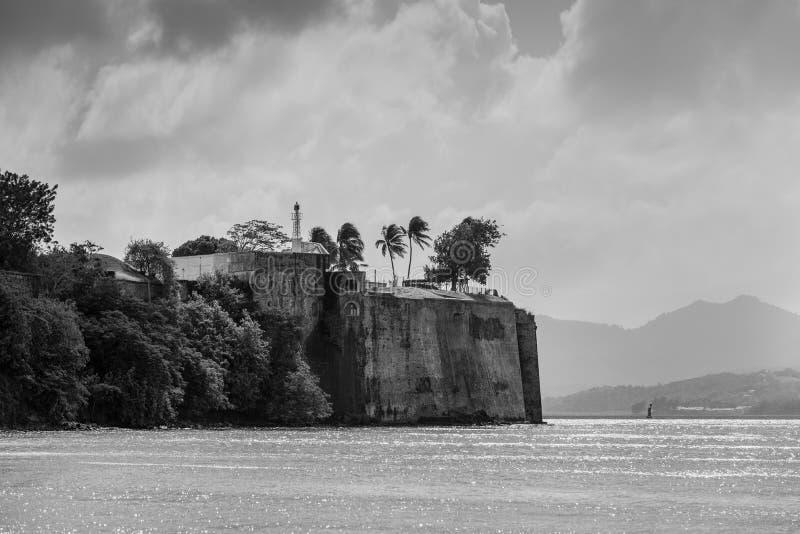 Fortsaint louis in Fort de France, hoofdstad van Martinique, royalty-vrije stock afbeelding