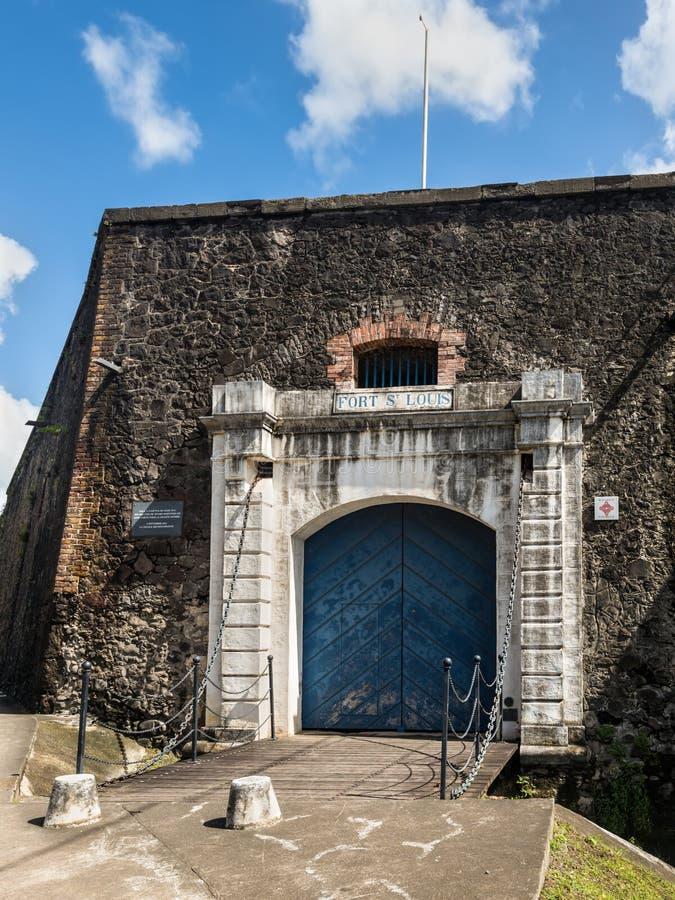 Fortsaint louis in Fort-de-France, Martinique stock afbeeldingen