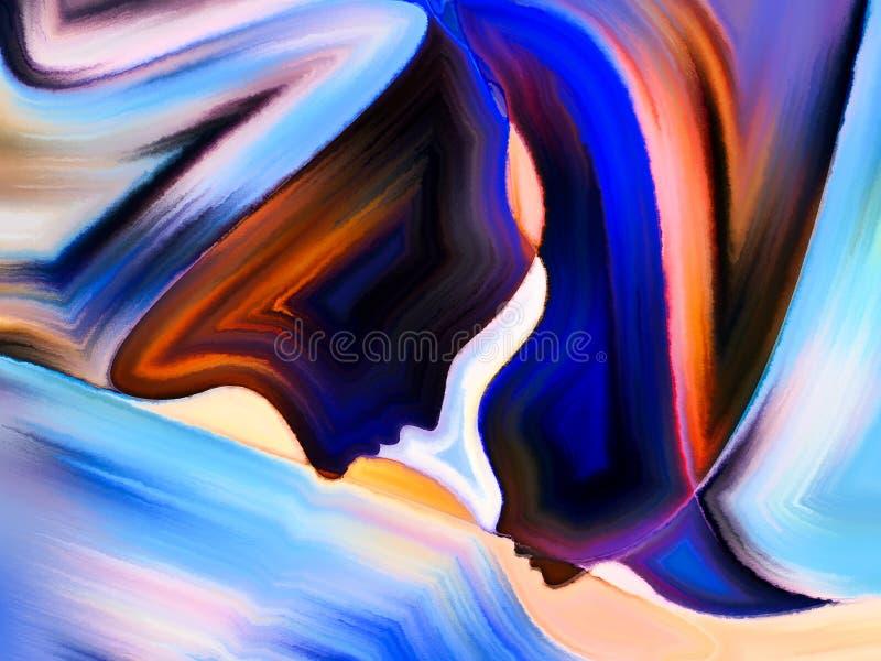 Fortschritt von heiligen Farben stock abbildung