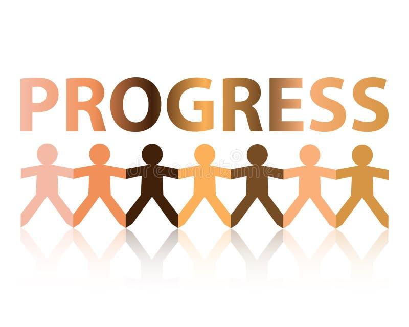Fortschritts-Papierleute stock abbildung
