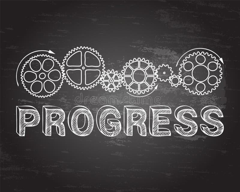 Fortschritts-Tafel vektor abbildung