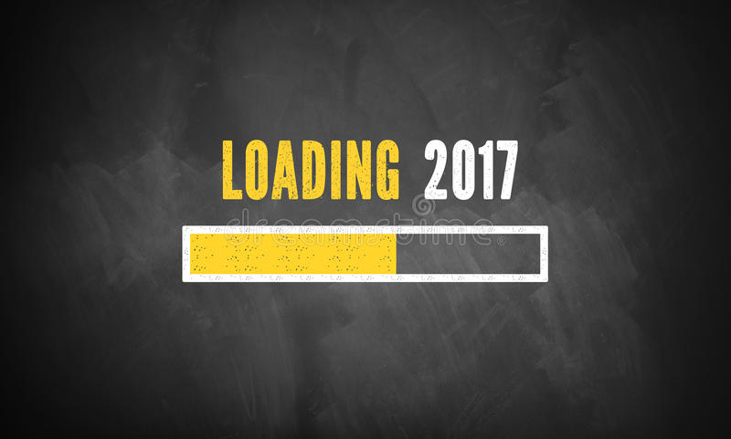 Fortschrittsstange, die Laden von 2017 zeigt vektor abbildung