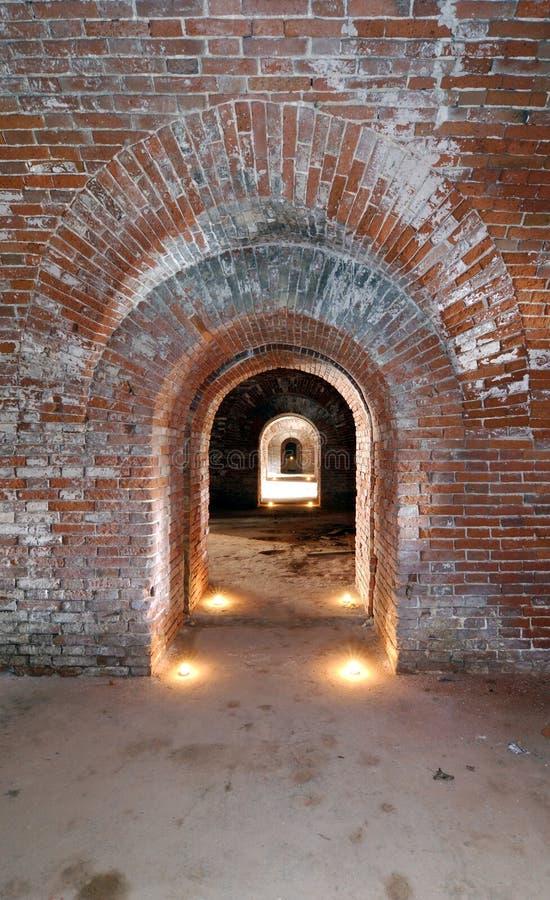 forttunnel arkivfoton