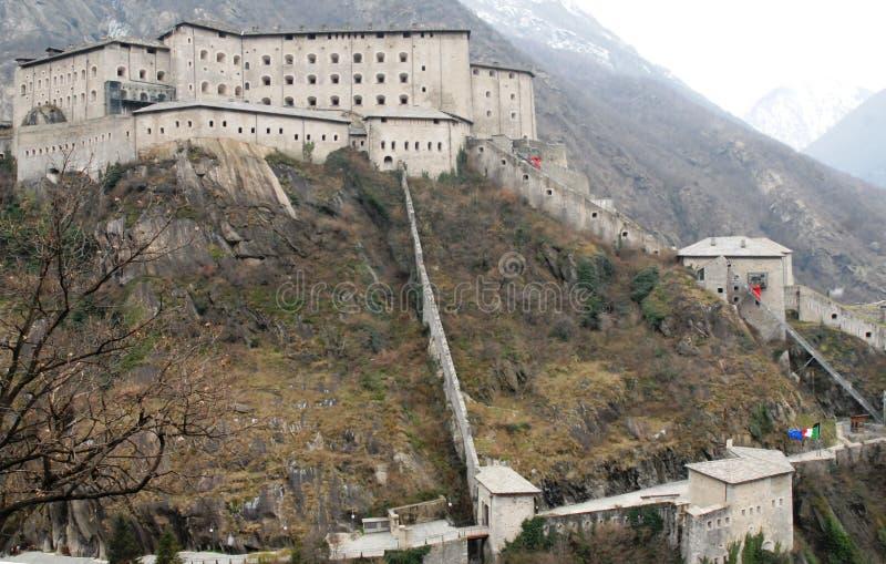 Fortu bard w Valle d'Aosta obraz stock
