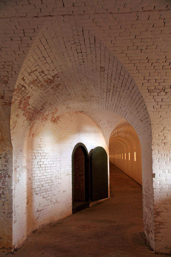 Fortu Barrancas wnętrze obraz stock