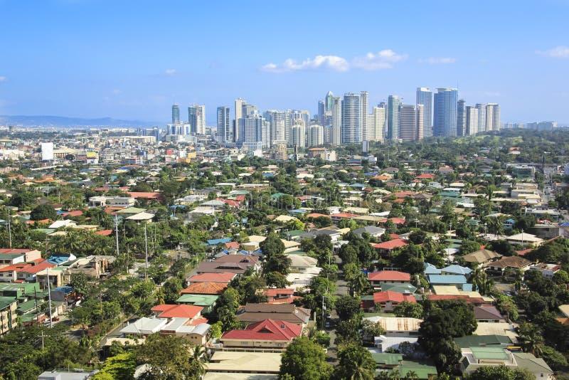 Fortu bonifacio linia horyzontu makati miasto Philippines fotografia stock