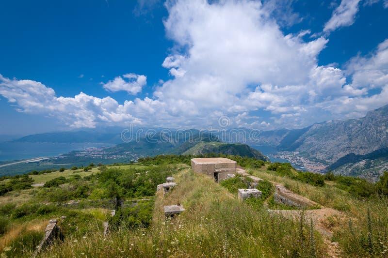 Fortu Gorazda ruiny i szeroki kąt kształtują teren widok fotografia stock