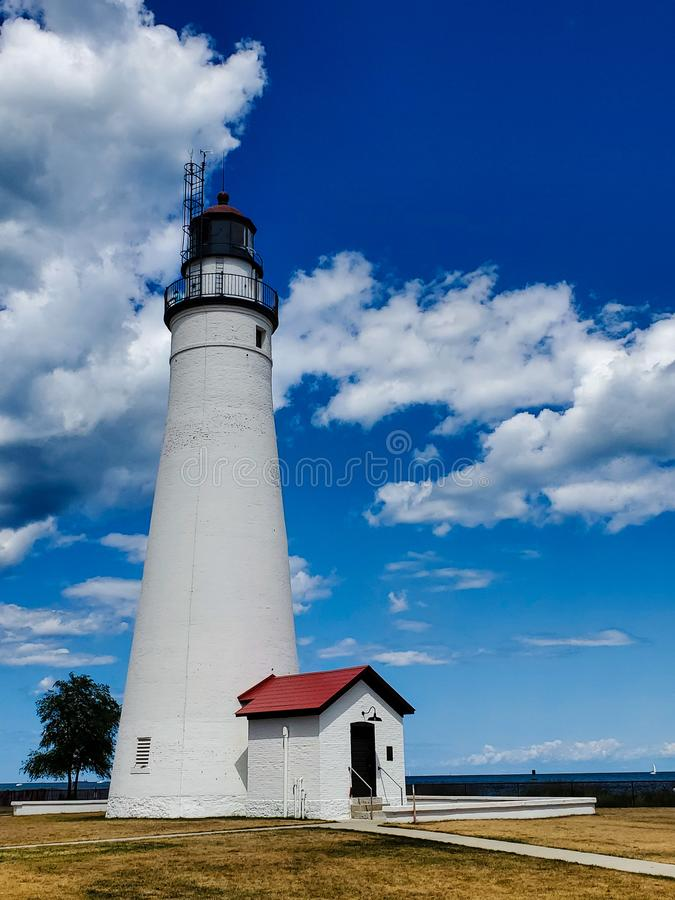 Fortu Gratiot latarnia morska w Portowym Huron, Michigan obrazy royalty free