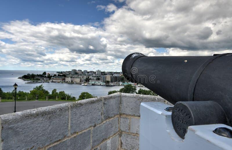 Fortu Henry Historycznego miejsca Krajowy działo zdjęcie royalty free