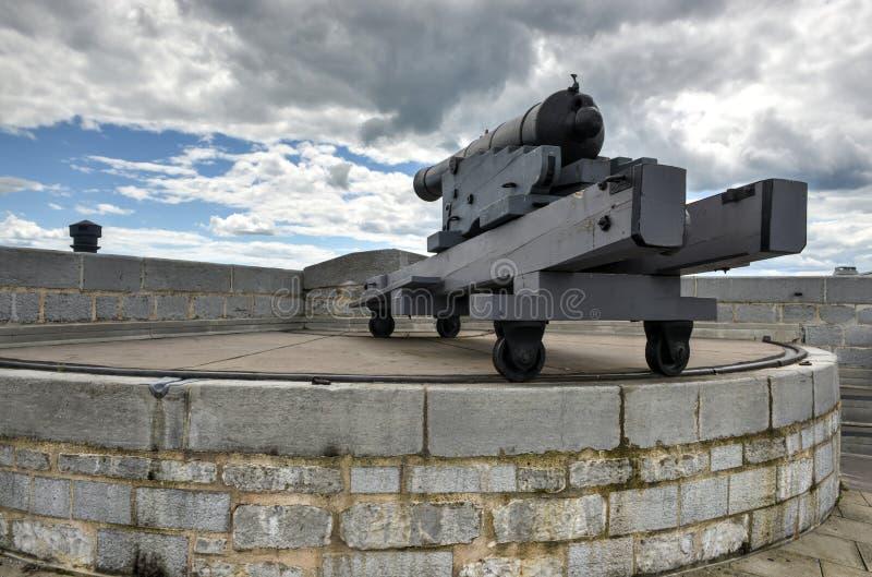 Fortu Henry Historycznego miejsca Krajowy działo fotografia royalty free