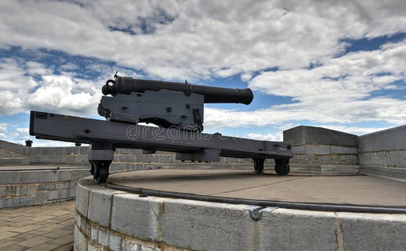 Fortu Henry Historycznego miejsca Krajowy działo fotografia stock