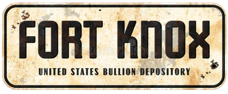 Fortu Knox znak zdjęcie stock