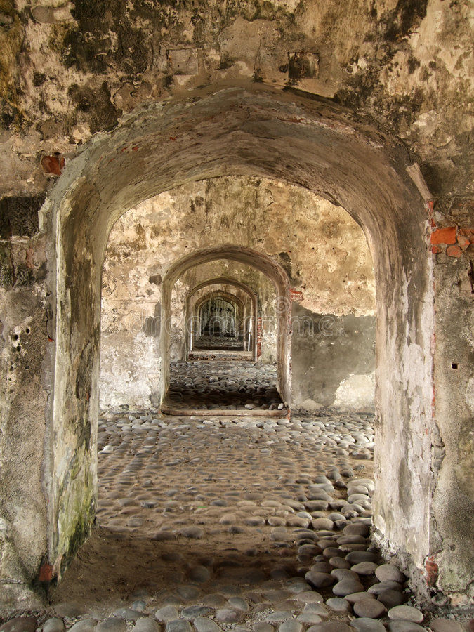 fortu korytarza wojskowy obraz stock