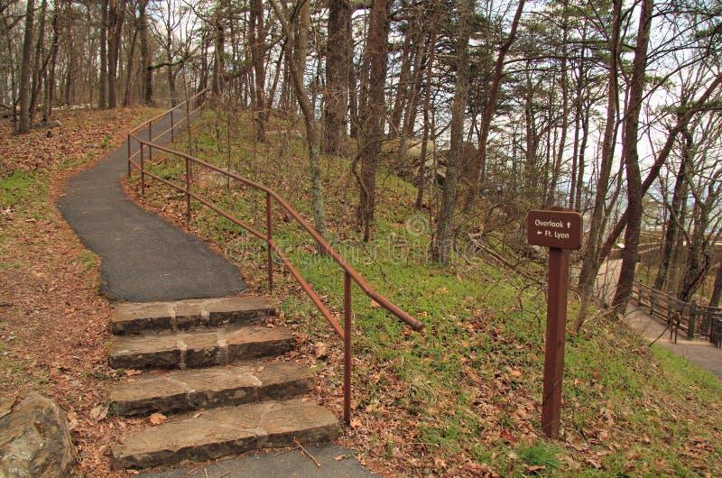 Fortu Lyons szana szczątki w Cumberland Gap obrazy stock