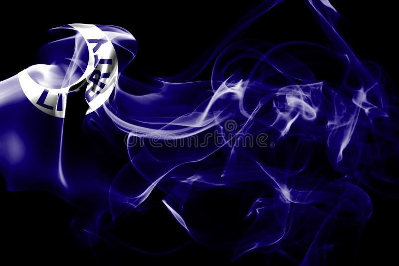 Fortu Moultrie miasta dymu flaga, Południowa Karolina stan, Zlany Stat obraz stock