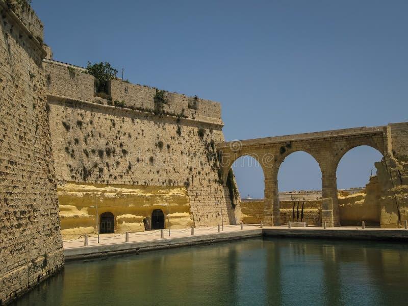 Fortu St Angelo w Birgu, Malta zdjęcie royalty free