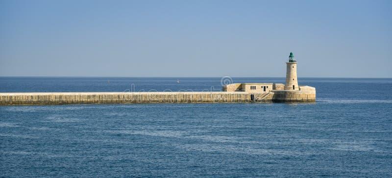 Fortu St Elmo latarnia morska Valletta Malta zdjęcia stock