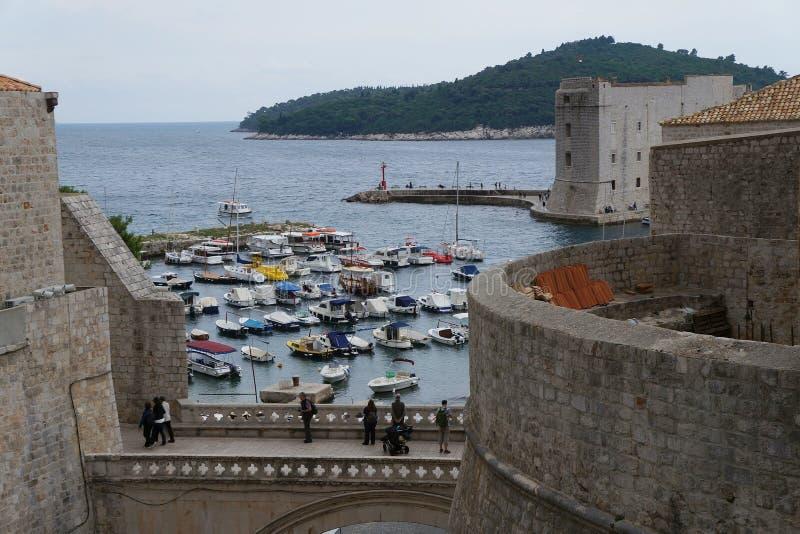Fortu St John Sv Ivana w starym mieście Dubrovnik fotografia stock
