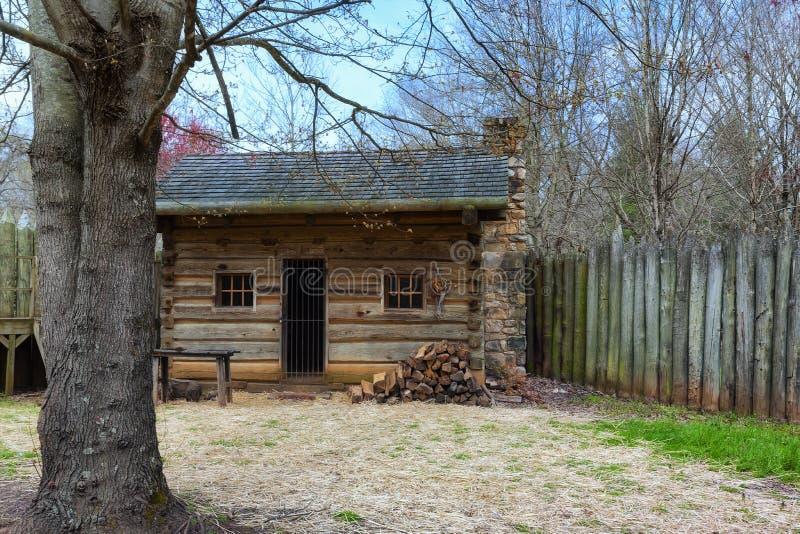 Fortu Watauga Dziejowy miejsce w Tennessee zdjęcia stock