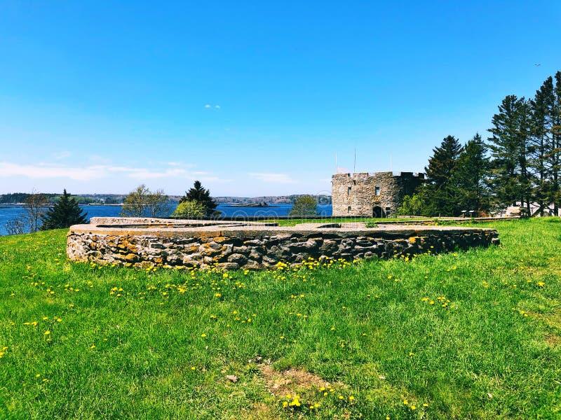 Fortu William Henry budynku powierzchowność obrazy royalty free