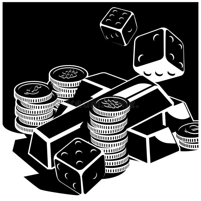 Fortuna e dinheiro ilustração do vetor
