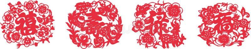 Fortuna (Fu Lu Shou Xi) ilustração royalty free
