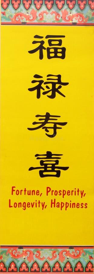 ?Fortuna, prosperità, longevità, divieto cinese di nuovo anno di felicità?